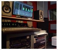 recording studio control room